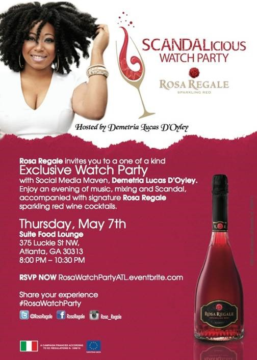 EXCLUSIVE INVITE: Scandal Watch Party with Demetria Lucas D'Oyley and Rosa Regale
